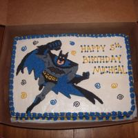 Batman   White cake, buttercream icing