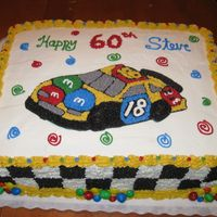 Nascar M&m Car   This cake was sooo fun!