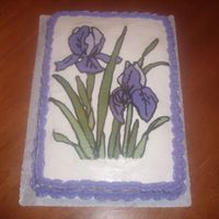 Purple Iris  This was just a practice cake I did to try out the FBCT technique. I really love this technique, but I see I'm gonna need a little...