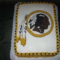 Washington Redskins Groom's Cake