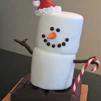 S'more Snowman   I've been wanting to make one of these into cake for as long as I can remember! Based on a Christmas ornament.