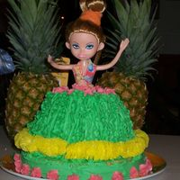 My Daughter's 5Th Bday Luau This was my very first attempt at any sort of special cake!