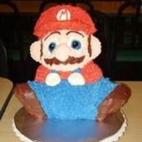 Mario  My 1st try at a Mario cake! It was for a 9th birthday. I think that it turned out good, but needs a little refining. Next time I think that...