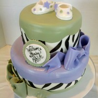 Zebra And Booties Baby Shower