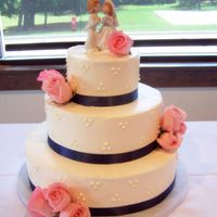 First Wedding Cake  I was thrilled to make this cake, my first wedding cake! for military reasons, they only had three weeks to plan and i had two weeks notice...