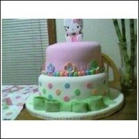 Hello_Kitty.jpg hello kitty 2 tier fondant chocolate,butter cake