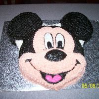 Just For Fun Mickey   Choco and white marble Mickey done just for fun with bc icing