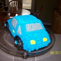 Practice Car Cake Just playing with my new pan!