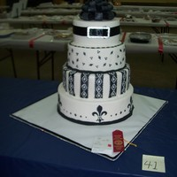 4 Tier Competition Cake 4 tiered dummy cakes for the Tn State Fair my first competition. 2nd place for a novice.