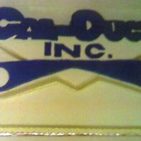 Cal-Duct Inc.   I made this cake for my brother and his co-workers.