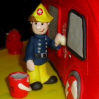 Fireman Sam Sugar paste Fireman Sam... vanilla sponge Fire Engine