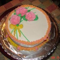Wilton Rose Cake  Ah, the roses. I did about twenty practice roses before my instructor told me I was running out of time and to put some on the cake. I wasn...