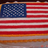 Fourth Of July Flag Cake This was a red velvet cake with cream cheese frosting. I was sooo proud of it, but unfortunately there was something about the texture of...