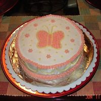 My First Decorated Cake This was my first cake, from Wilton Class 1. Nothing fancy, but I was still quite proud of it.