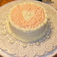 "Anniversary Heart The photo is a little blurry, but you get the idea. Made with buttercream on a 6"" cake."