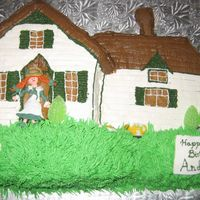 Anne Of Green Gables I made this cake for my friend Andrea who loves Anne of Green Gables. Anne is fondant and everything else is buttercream (except for the...