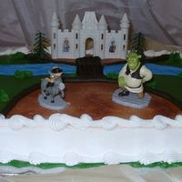 Shrek Deluxe Deco Kit This is another deco kit that was deluxed. I charge an extra fee for the deluxe version and I use icing instead of an airbrush for the...