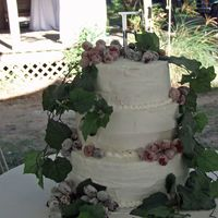 Wedding Cake White cake with btc and sugar grapes