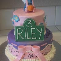 "Riley's Cake I made this for my cousin's 3rd birthday. She's Abby Cadabby obsessed. It's a 6"" and 9"" buttercream with fondant..."