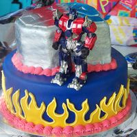 Transformers I made this cake for my son's 5th birthday last year. He loved it and that's what matters, right?! I cut the logo out of fondant...
