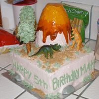 Dinosaur Birthday Cake I made this cake for my son's friend's 5th birthday. Everyone loved it and I had fun making it. It turned out much better than I...