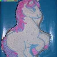 Unicorn Birthday Cake I made this cake for my daughter's 4th birthday- I wanted a unicorn to coordinate perfectly with the image on her napkin and used the...