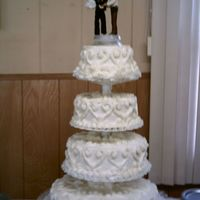 Wedding Cake Law Enforcement This wedding cake was a pleasure to do. The bride and groom requested no flowers on the cake. It was decorated using only tips 18 & 22...