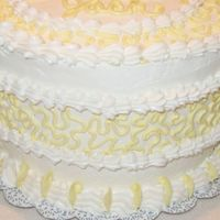 Cornelli Ribbon - Side View  This is the same cake only a closer view of the side. I thought that the Cornelli around the side looked like a ribbon, so that's why...