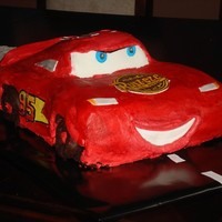 Mcqeen I did this for my nephew's 4th birthday. Thanks to steffla for her help. Biggest challenge was getting the wheel wells smooth and...