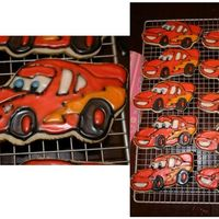 Lightning Mcqueen NFSC with royal icing. 4yr old Bday party favors