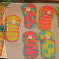 Flip Flop! NFSC decorated with royal icing. 6 yr-old bday pool party