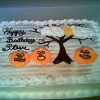 Halloween Bday This was inspired by whitgent's cake. I added the tree and my own little touch, but I liked that design. This was for a co-worker&#039...