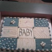 Baby Boy Quilt Full This is a full sheet version of the Baby Boy Quilt Cake. It's all BC over a half Devil's Food, half French Vanilla cake. My first...
