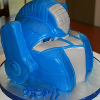 Optimus Prime Cake   All MMF except the side pieces were craft foam covered with fondant.
