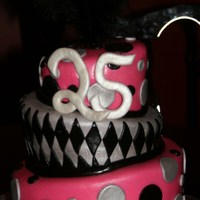 Pink And Black Topsy Turvy   Covered with MMF