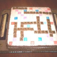 Scrabble Cake We celebrated the spring birthdays of everyone in in my family all at once!! This is what I came up with to include everyone. It is...