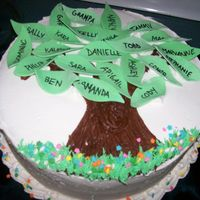 Family Tree all BC with Fondant leaves. i made this for my grandfather's 80th birthday last month. the leaves are 4 generations of family and all...