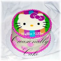 Hello Kitty   edible image on top - made for a little girl turning 2 years old!