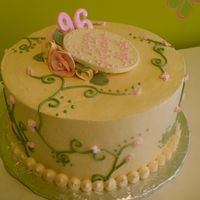 96Th Floral Birthday   This cake was for a woman's grandmother turning 96. TFL!