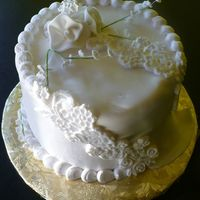 1St Anniversary   1st anniversary cake mini replica of wedding cake. TFL!