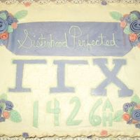 Gamma Gamma Chi Cake  A local school sorority asked me to do a 1/2 sheet cake for a dinner that they were having. It is a basic yellow cake with buttercream...