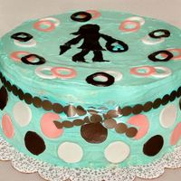 Mod Girl Shopping Cake  This cake was done for a friend's birthday. It was a yellow cake with vanilla pudding and fresh strawberries for the filling, and it...