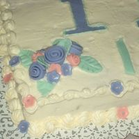 Gamma Gamma Chi Cake Flower/border Close-Up   This is just a close up of the reverse shell border and one of the small floral sprays.