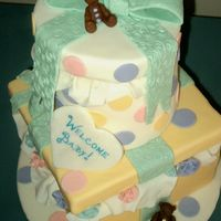 Bear Baby Shower   This is a dummy cake that I did for a cake competition at my job (@ a bakery!)