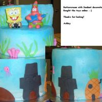 Spongebob Birthday Cake This was for my great nephew's 4th birthday. He loved it! :o) All buttercream with fondant accentes. SB and Patrick are toys.