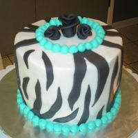 Zebra Print Birthday Cake This is my first animal print cake. My step sister's sweet little girl called me late last night and asked if I would make a zebra...