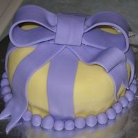 My First Fondant Cake This is the first time I've ever really decorated a cake. It's all fondant (I know I need lots of practice!). It was really more...