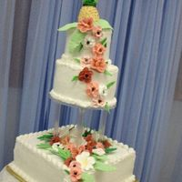 Hawaiian Wedding Cake 3 tier wedding cake made at the Cakes for Catering class at Wilton in July. It was made as a joint effort, with my 2 wonderful partners. We...