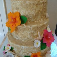Michelle And Barret I made this for a couple who had a destination wedding, and wanted a cake for their BBQ celebration when they returned. top and bottom tier...