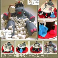 Lady Hippo I hope you guys like her like I do!!!It was really fun to do!!!